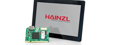 Space-saving display and processor module solution